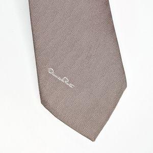 Oscar De La Renta Light Brown Tie